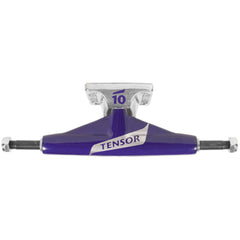 Tensor Aluminum Low Tens Colored Flick - Purple/Raw - 5.0 - Skateboard Trucks (Set of 2)