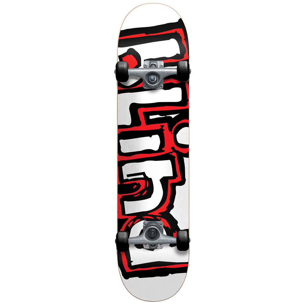 Blind OG Matte Logo Youth - White/Red - 7.0 - Complete Skateboard
