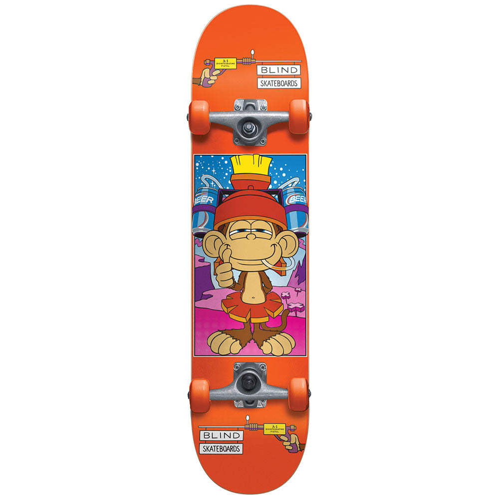 Blind Looney Monkey Youth - Orange - 7.3 - Complete Skateboard