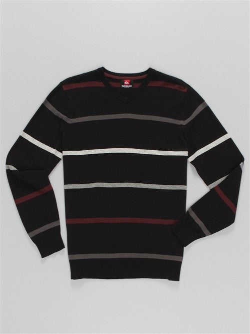 Quiksilver Kove Striped Sweater - Black - Mens Sweatshirt
