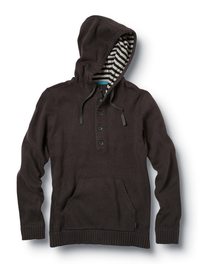 Quiksilver Invader Hooded Sweater - Black - Mens Sweatshirt