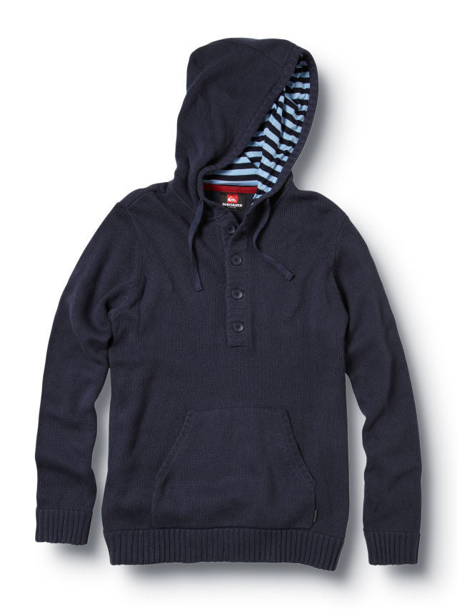 Quiksilver Invader Hooded Sweater - Navy - Mens Sweatshirt