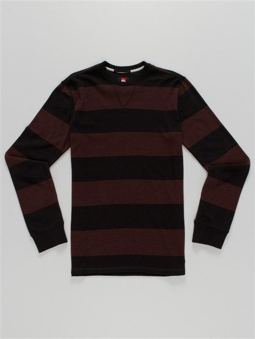 Quiksilver Snit Stripe Sweater - Black - Mens Sweatshirt