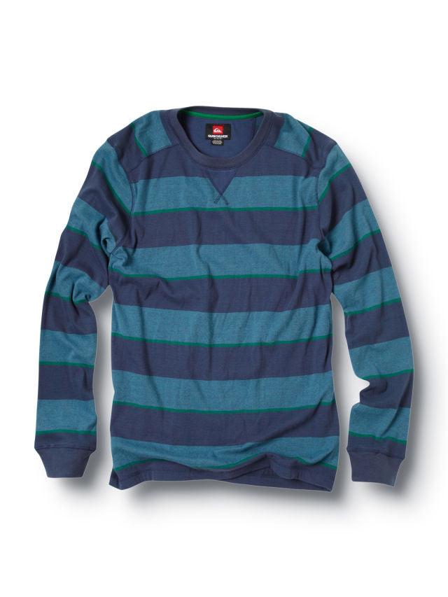 Quiksilver Snit Stripe Sweater - Blue - Mens Sweatshirt