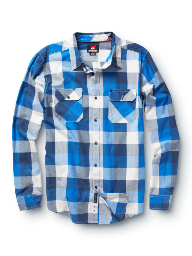 Quiksilver Hawthorne Long Sleeve Shirt - Blue - Mens T-Shirt