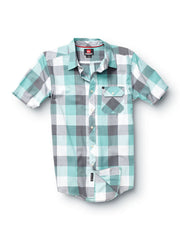 Quiksilver Hawthorne Short Sleeve Shirt - Green - Mens T-Shirt