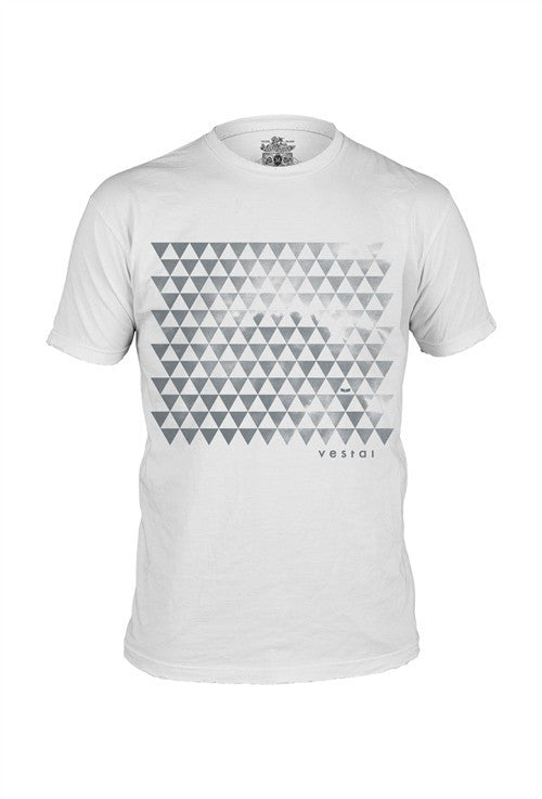 Vestal Triangles T-Shirt - White - Mens T-Shirt