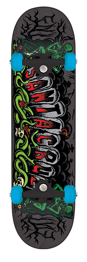 Santa Cruz Atomic Cemetary Powerply - Black - 7.7in x 31.4in - Complete Skateboard