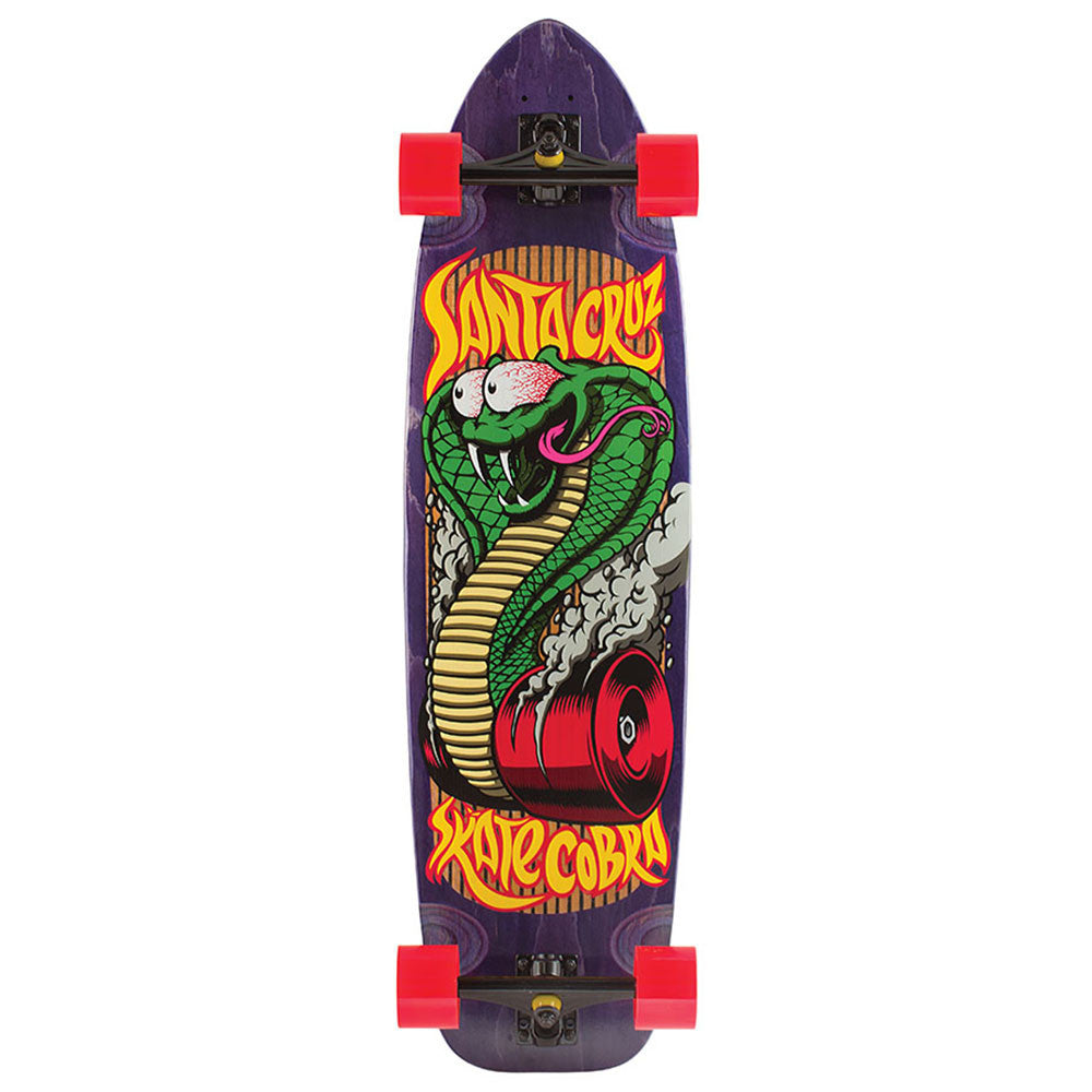 Santa Cruz Speed Cobra Cruzer - Purple - 10.11in x 37.16in - Complete Skateboard
