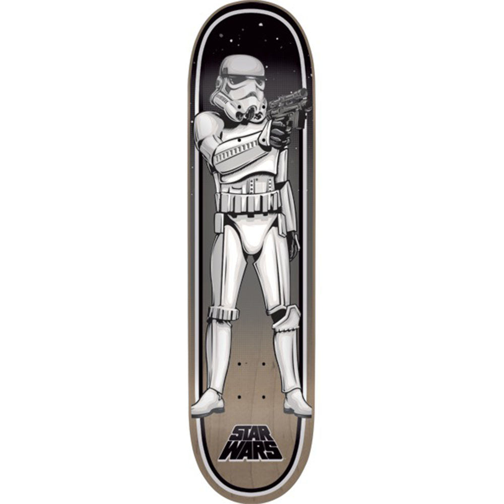 Santa Cruz Star Wars Stormtrooper - Black/White - 8.0in x 31.6in - Skateboard Deck
