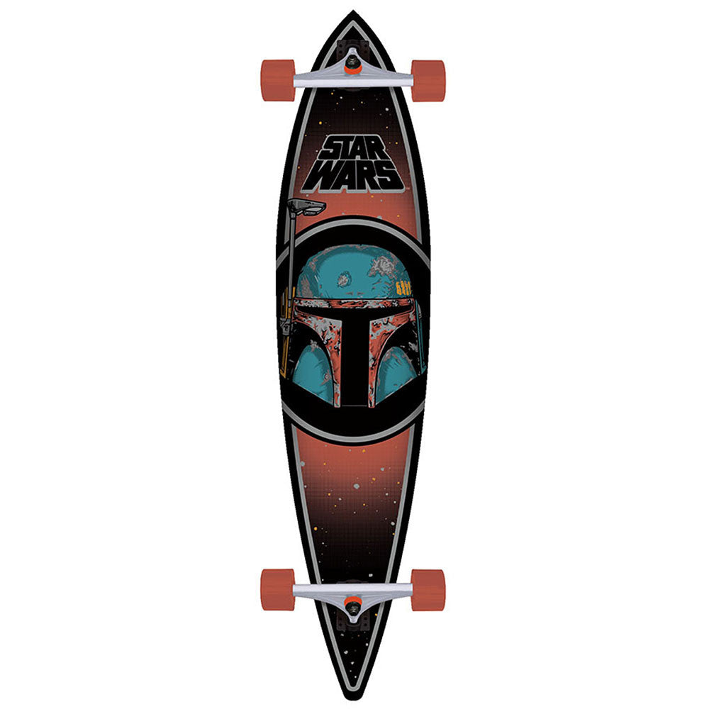 Santa Cruz Star Wars Boba Fett Pintail Cruzer - Black - 9.9in x 43.5in - Complete Skateboard