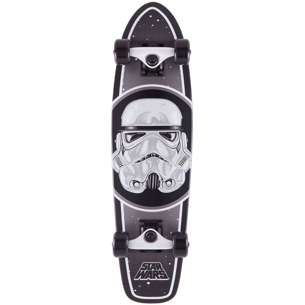 Santa Cruz Star Wars Stormtrooper Cruzer - Black - 7.4in x 29.1in - Complete Skateboard