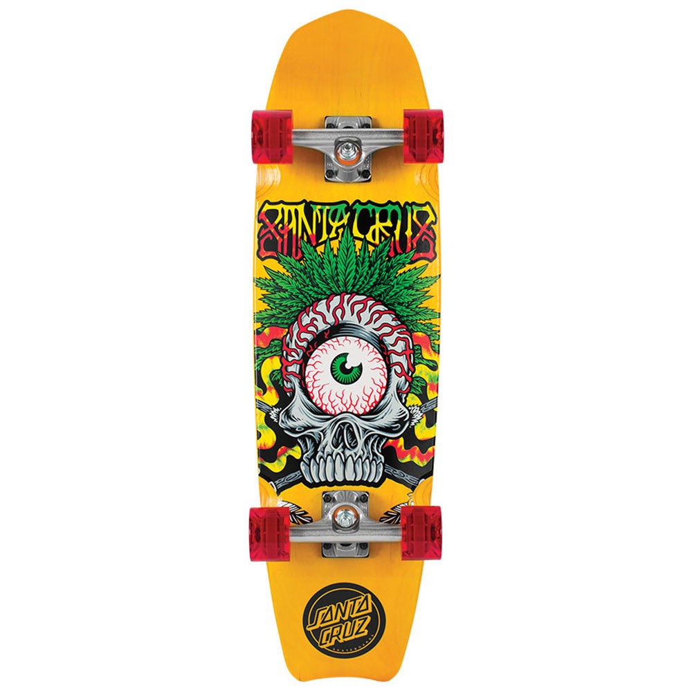 Santa Cruz Rasta Tribe Cruzer - Yellow - 8.5in x 30.67in - Complete Skateboard