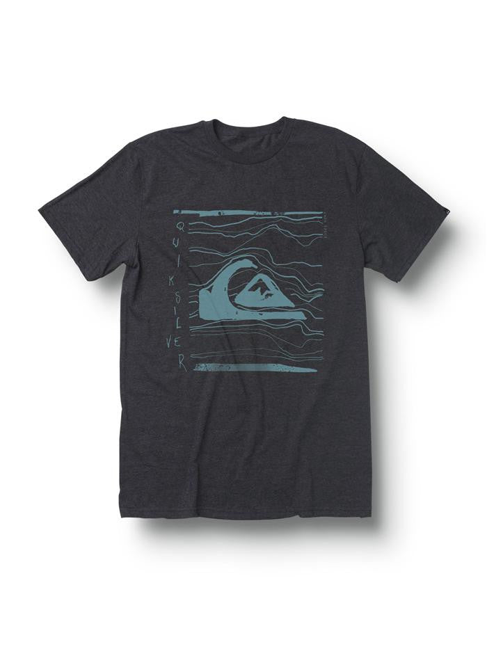 Quiksilver Distort T-Shirt - Grey - Mens T-Shirt