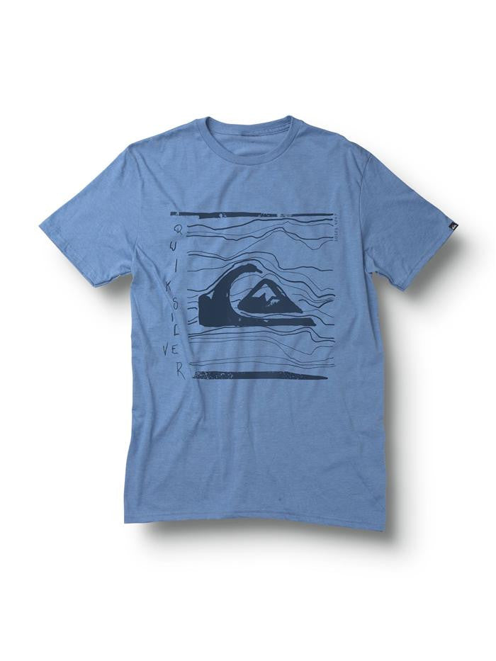 Quiksilver Distort T-Shirt - Blue - Mens T-Shirt