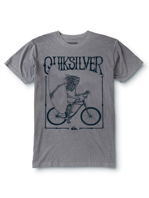 Quiksilver On and On T-Shirt - Grey - Mens T-Shirt