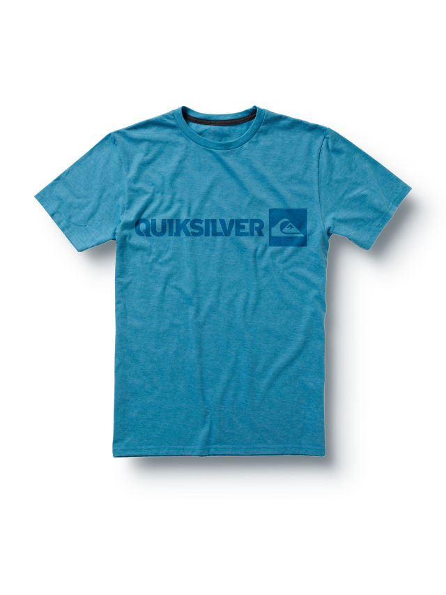 Quiksilver Industry Slim Fit T-Shirt - Blue - Mens T-Shirt