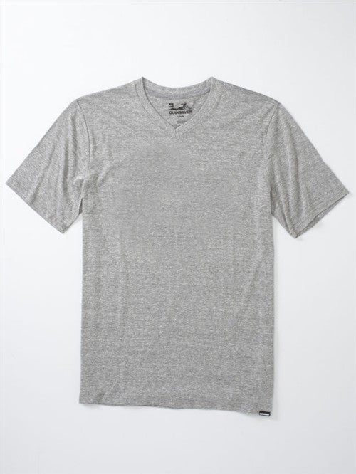 Quiksilver Blank Premium V-neck T-Shirt - Grey - Mens T-Shirt