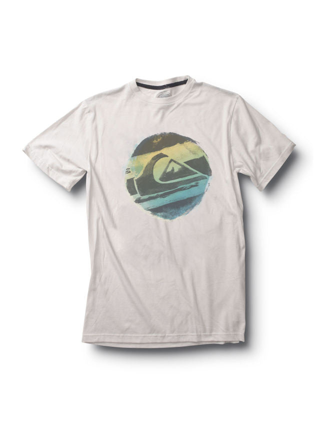 Quiksilver Distress Call Slim Fit T-Shirt - White - Mens T-Shirt