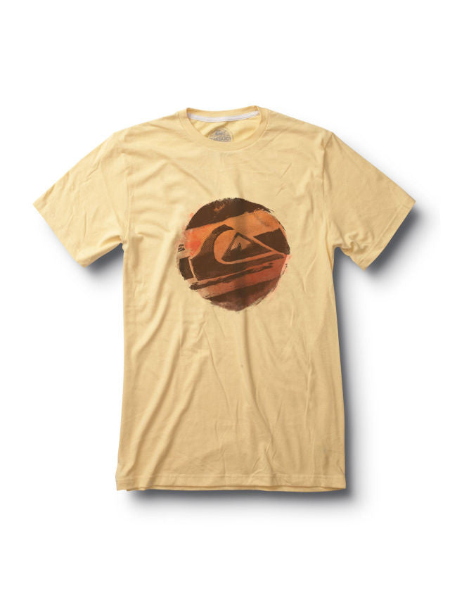 Quiksilver Distress Call Slim Fit T-Shirt - Yellow - Mens T-Shirt