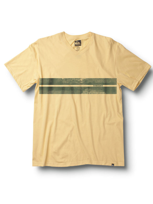 Quiksilver Flatline Slim Fit V-Neck T-Shirt - Yellow - Mens T-Shirt