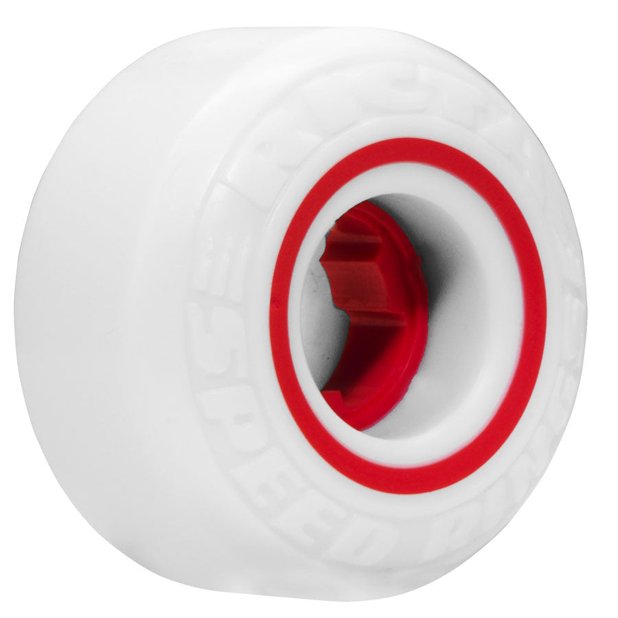 Ricta Speedrings - White/Red - 51mm 81b - Skateboard Wheels (Set of 4)