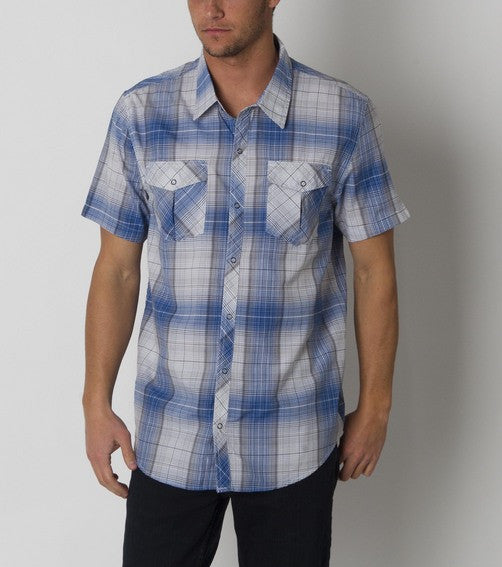 O'Neill Overland Woven Shirt - Blue - Mens T-Shirt