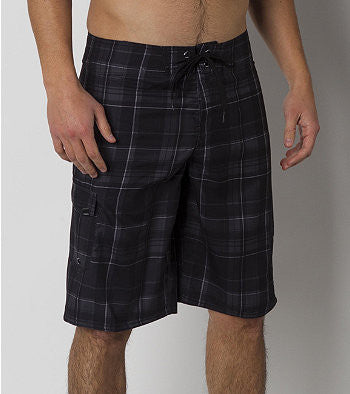 O'Neill Santa Cruz Plaid 2 - Black - Mens Boardshorts