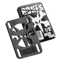 Bones - Black - 1/8in - Skateboard Riser (2 PC)