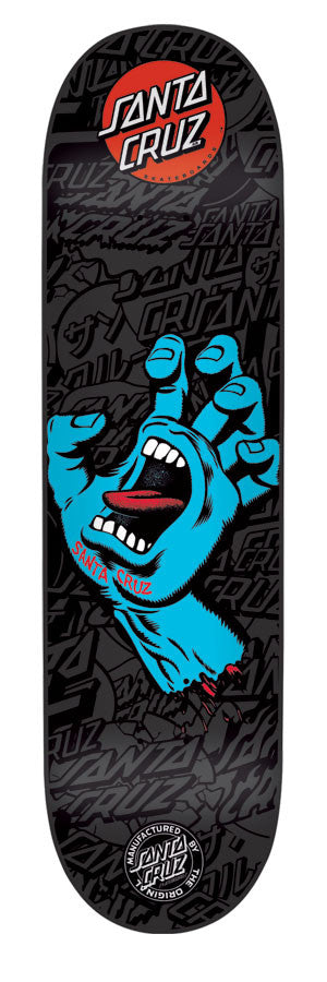 Santa Cruz Screaming Hand Powerply - Black/Blue - 31.5in x 7.6in - Skateboard Deck