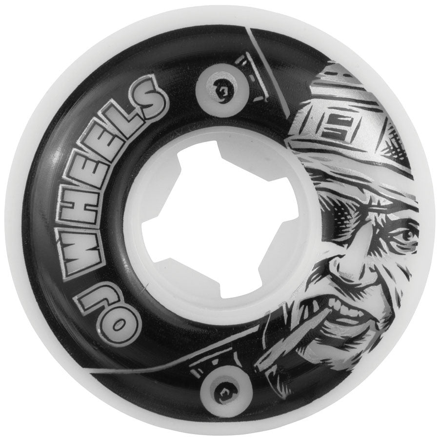 OJ Al Deez Team - White - 50mm 99a - Skateboard Wheels (Set of 4)