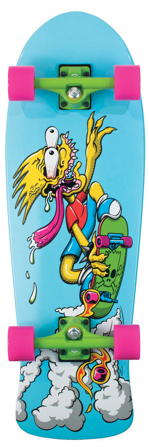 Santa Cruz Skate Simpsons Bart Slasher Cruzer - Blue - 9.8in x 30.2in - Complete Skateboard
