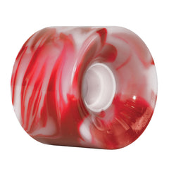 OJ Hot Juice - Red/White Swirls - 60mm 78a - Skateboard Wheels (Set of 4)