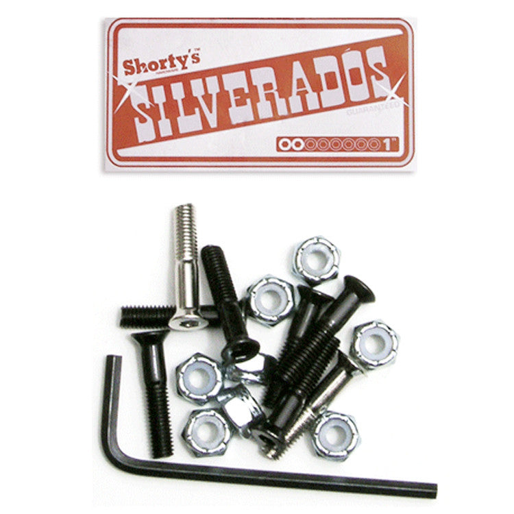 Shorty's Silverados Allen - 1in - Skateboard Mounting Hardware