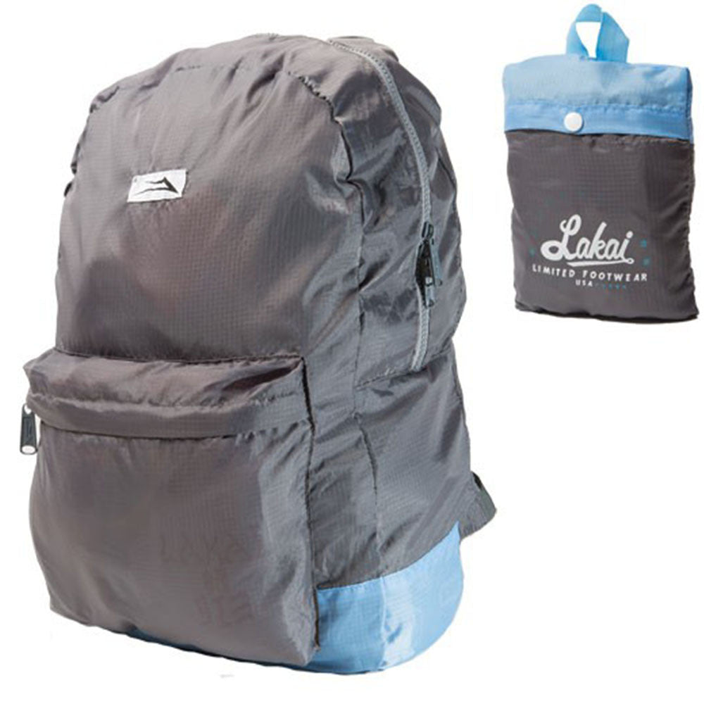 Lakai Packable - Grey/Light Blue - Backpack