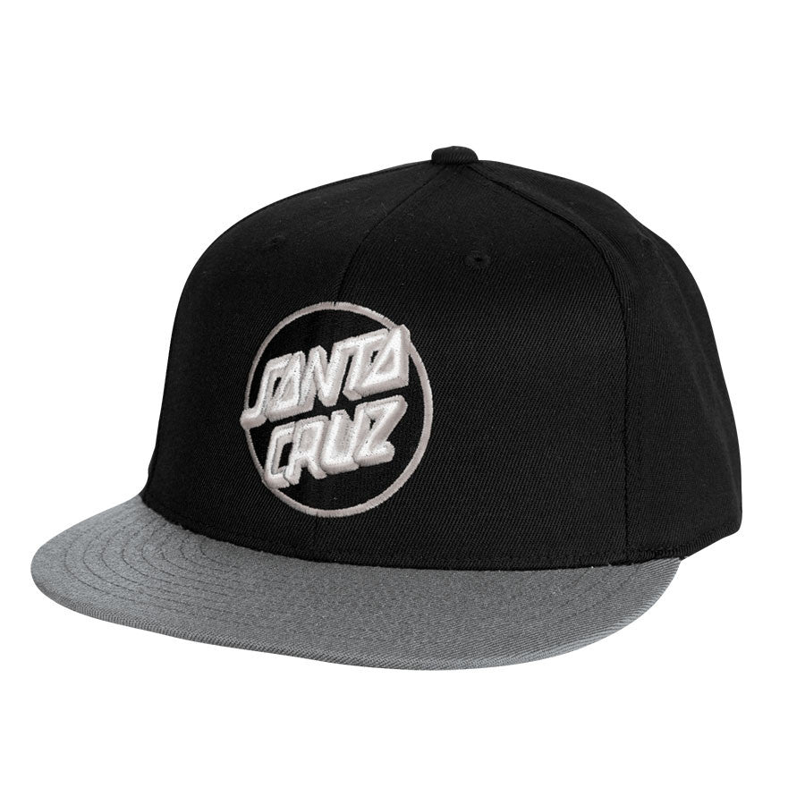 Santa Cruz Classic Dot Flexfit Fitted Stretch Hat - Black/Grey - Men's Hat