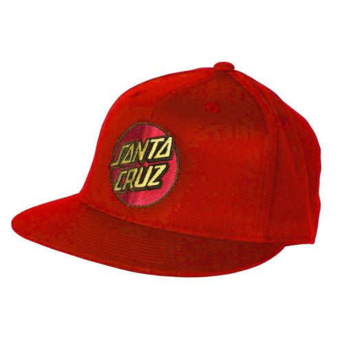 Santa Cruz Classic Dot Flexfit̴å¬ Fitted Stretch Hat - Red - Small/Medium