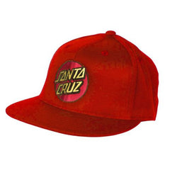 Santa Cruz Classic Dot Flexfitå¨ Fitted Stretch Hat - Red - Small/Medium