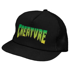 Creature Logo Trucker Mesh - Black - Men's Hat