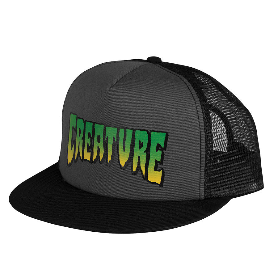 Creature Logo Trucker Mesh - Grey/Black - Men's Hat