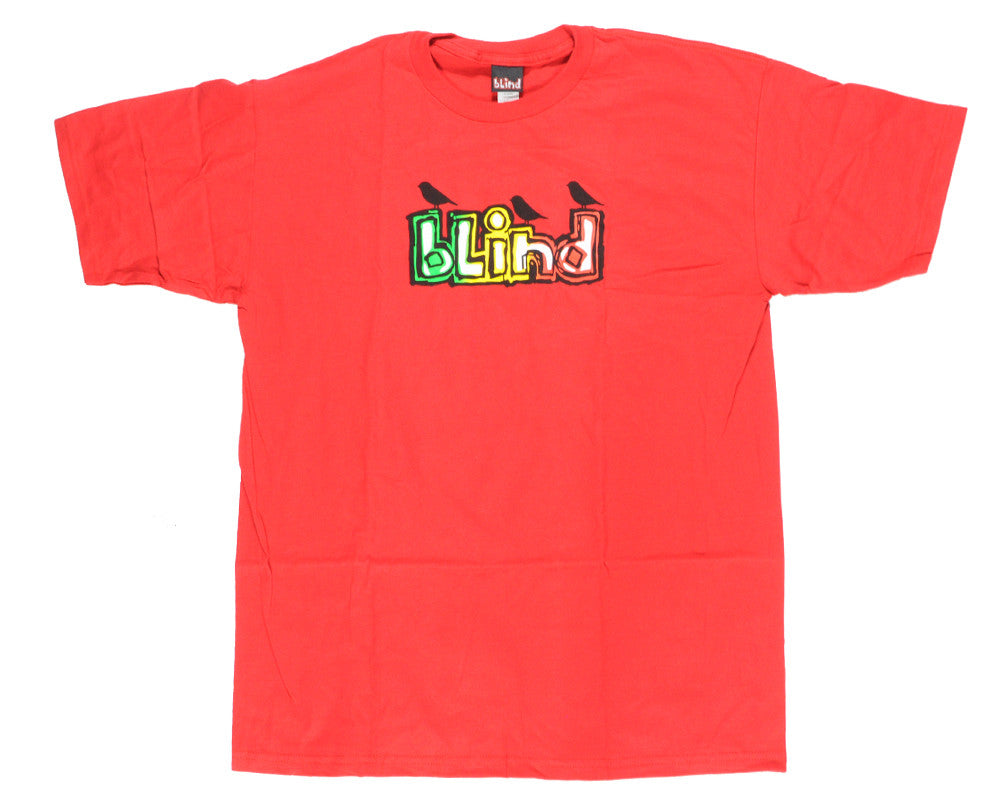 Blind Three Little Birds S/S Tee - Red - T-Shirt