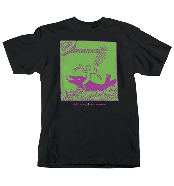 Alien Workshop Haring UFO Dolphin - Tarpit Black - Men's T-Shirt
