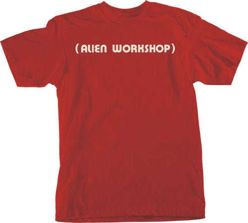 Alien Workshop Parenthesis Short Sleeve - Red - Men's T-Shirt