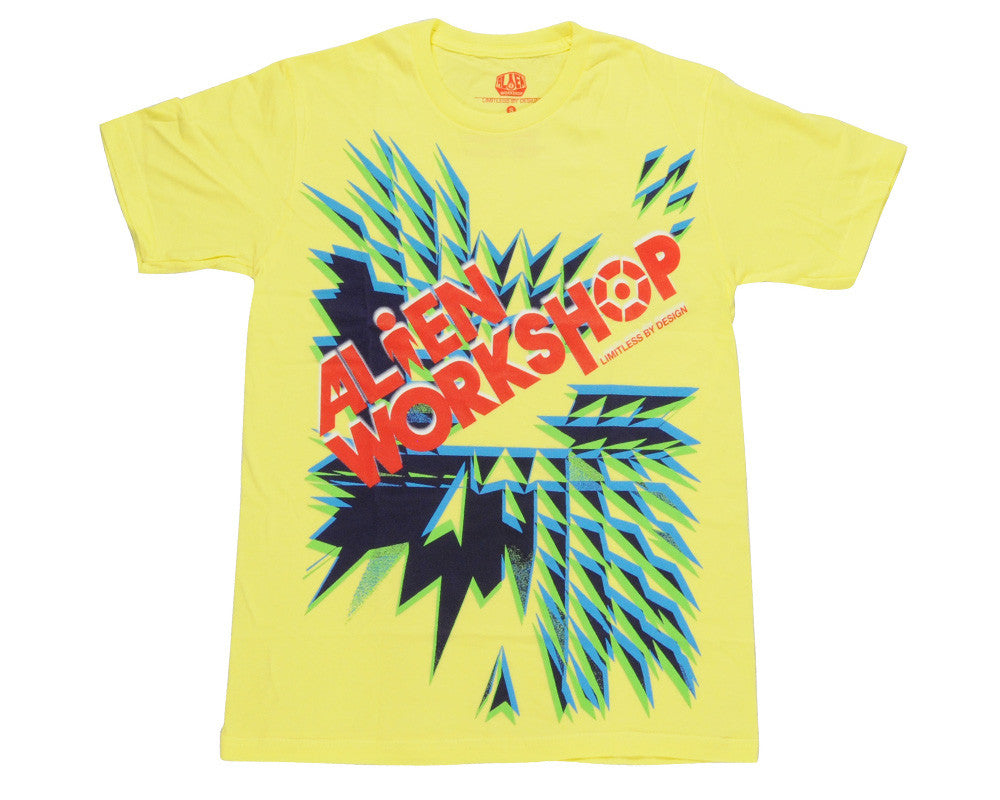 Alien Workshop Dynomo Short Sleeve - Lemon - Men's T-Shirt