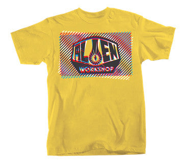 Alien Workshop Interlaced Short Sleeve - Lemon - Men's T-Shirt
