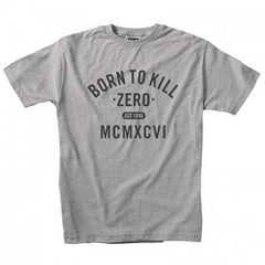 Zero Born To Kill S/S - Grey/Black - Mens T-Shirt