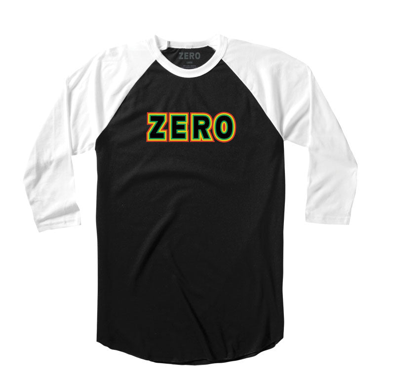 Zero Rasta Bold Jersey - Black/White - Men's T-Shirt