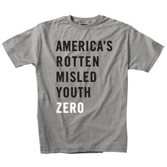 Zero Misled Army S/S - Heather Grey - Men's T-Shirt
