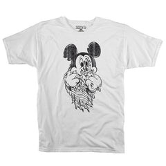 Zero Mouse Mutilation S/S - White - Men's T-Shirt