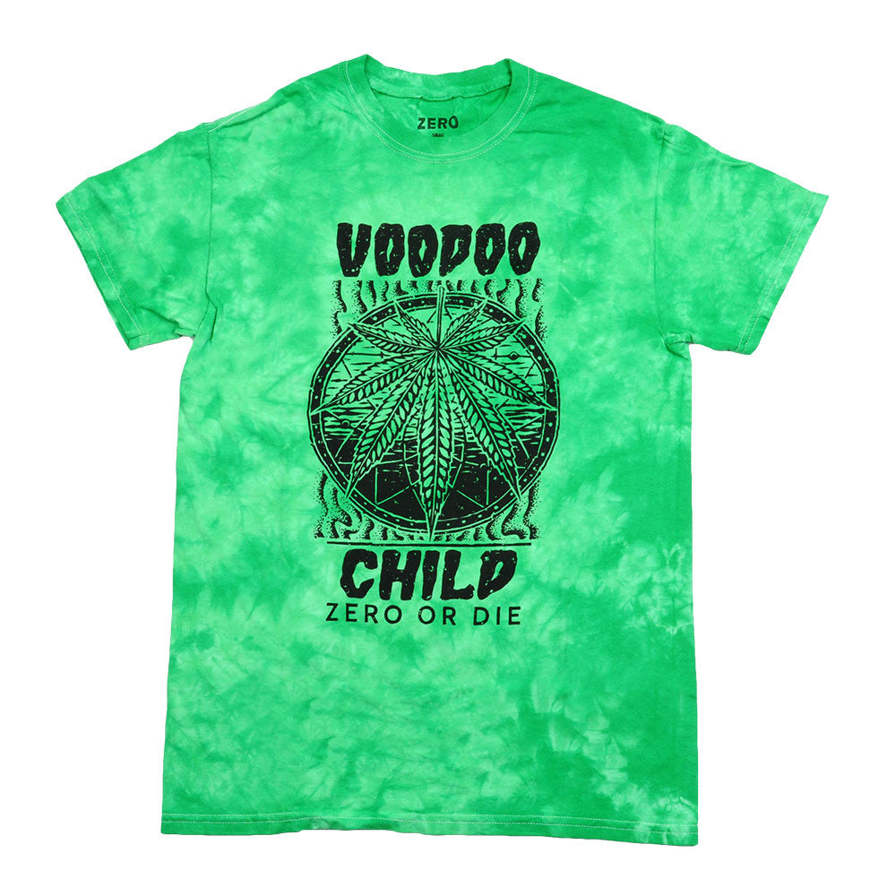 Zero Voodoo Child Tie-Dye S/S - Green - Men's T-Shirt